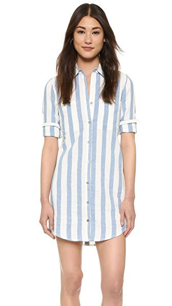 7 For All Mankind Striped Shirtdress