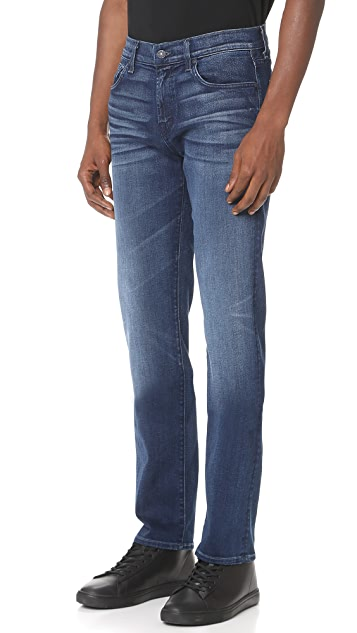 7 For All Mankind Slimmy Straight Luxe Jeans