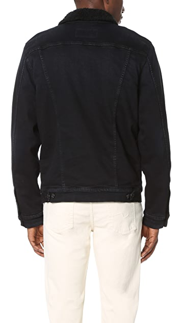 7 For All Mankind Luxe Performance Sherpa Lined Denim Jacket