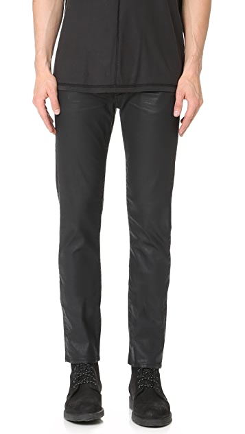 7 For All Mankind Paxtyn Slim Taper Coated Jeans