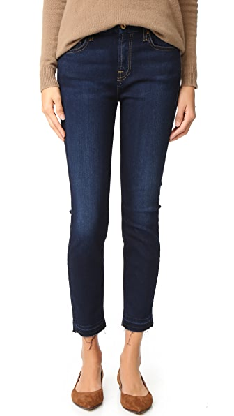 7 For All Mankind The b(air) Ankle Skinny Jeans - Tranquil Blue