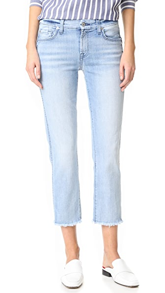 7 For All Mankind Ankle Straight Jeans with Released Hem