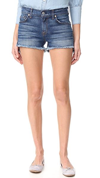 7 For All Mankind Cutoff Step Hem Shorts - Bondi Beach
