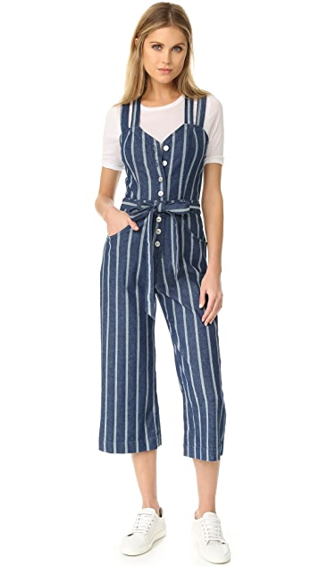 7 For All Mankind Button Front Jumpsuit