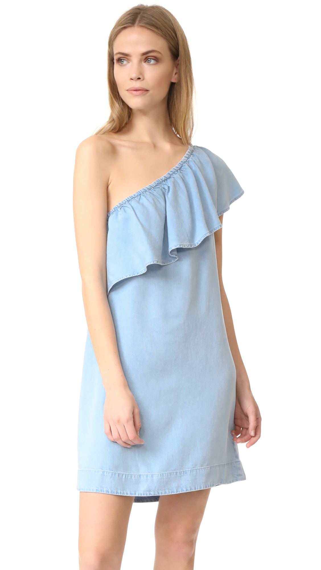 7 For All Mankind One Shoulder Dress