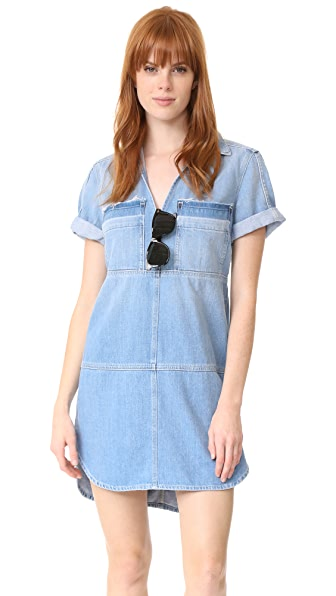 7 For All Mankind Step Hem Dress - Luxe Lounge Deep Blue