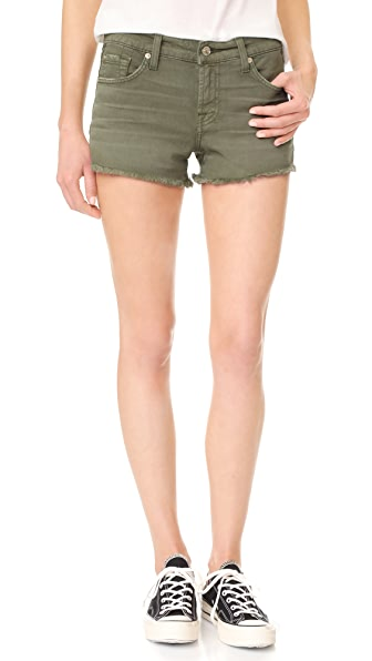 7 For All Mankind Cutoff Shorts - Olive