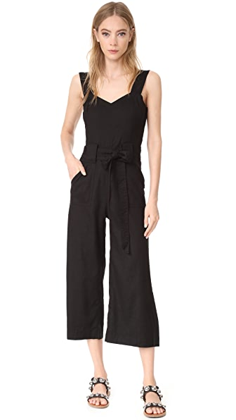 7 For All Mankind Belted Jumpsuit - Black