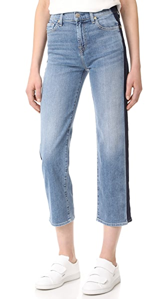7 For All Mankind Kiki with Shadow Side Seams - Gold Coast Waves