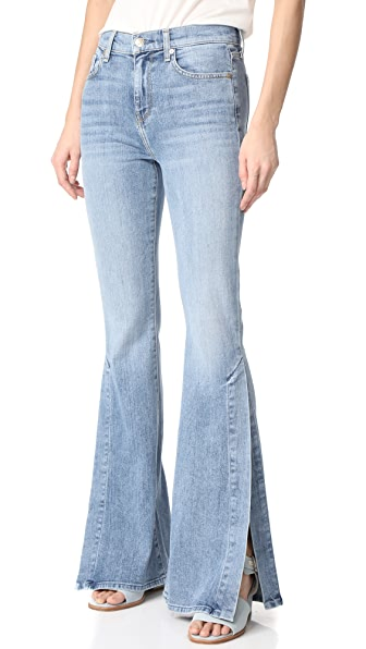 7 For All Mankind Ali Jeans with Split Seams - Gold Coast Waves