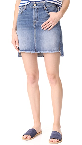 7 For All Mankind Skirt with Step Hem