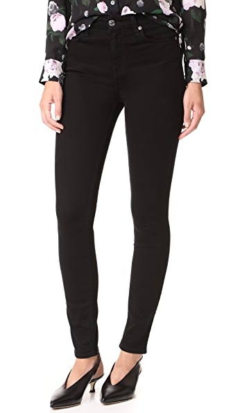 7 For All Mankind B(air) Skinny Jeans In B(Air) Black