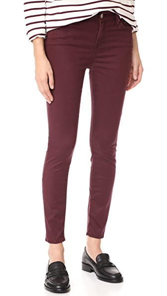 7 For All Mankind The Ankle Skinny Jeans - Mulberry