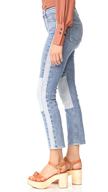 7 For All Mankind Edie Jeans with Reverse Piecing