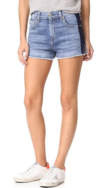 7 For All Mankind High Waist Cutoff Shorts