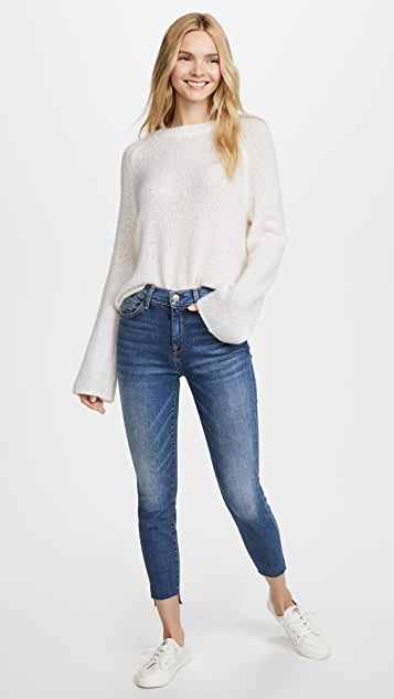 7 For All Mankind The High Waisted Ankle Skinny Jeans with Step Hem