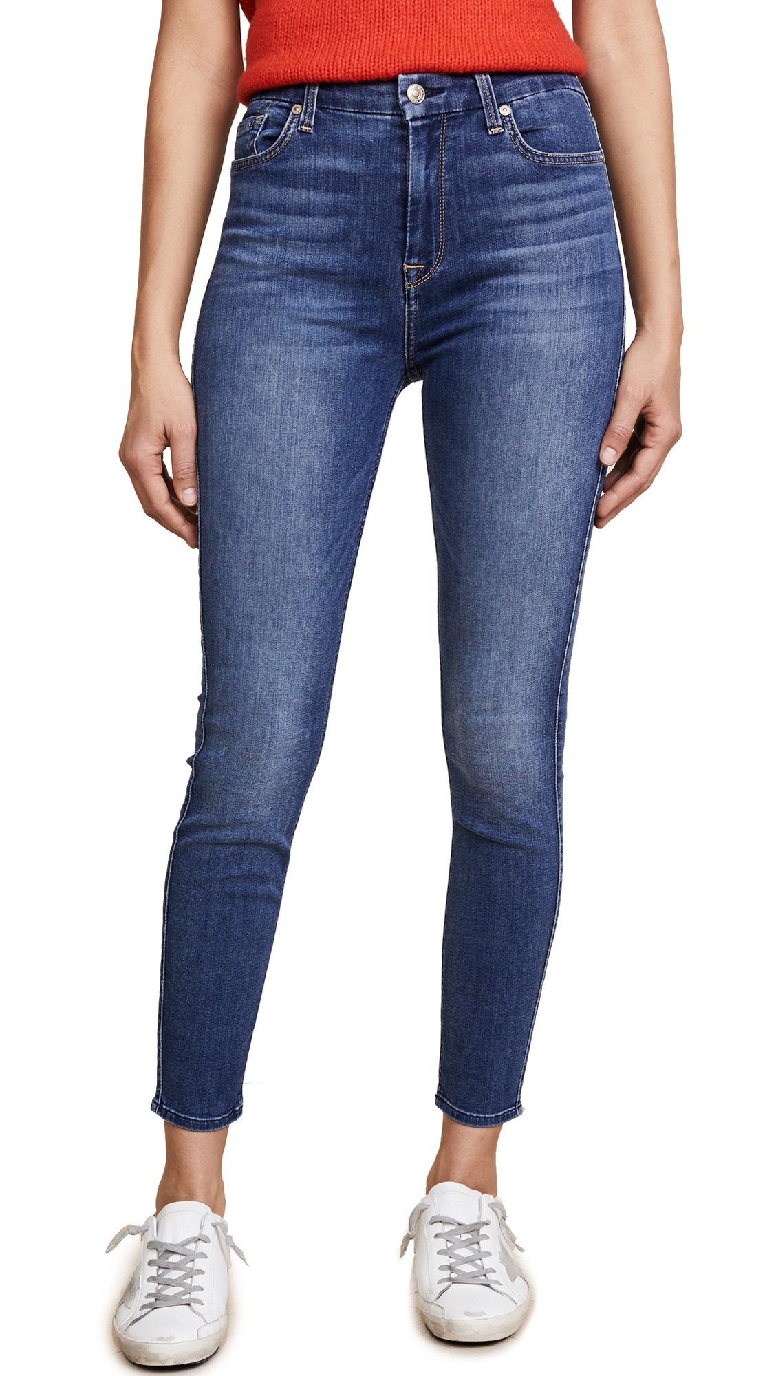 7 For All Mankind b(air) Aubrey Ankle Skinny Jeans