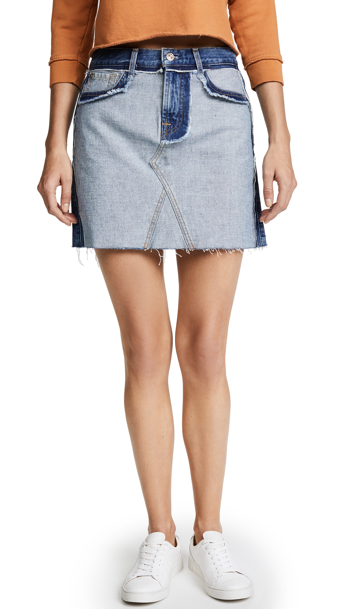 7 For All Mankind A-Line Miniskirt
