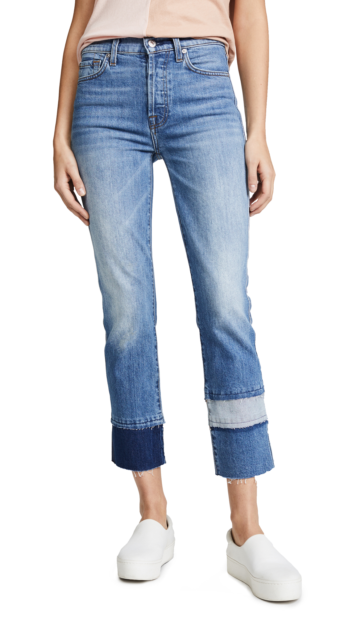 7 For All Mankind Edie Fray Cuff Jeans
