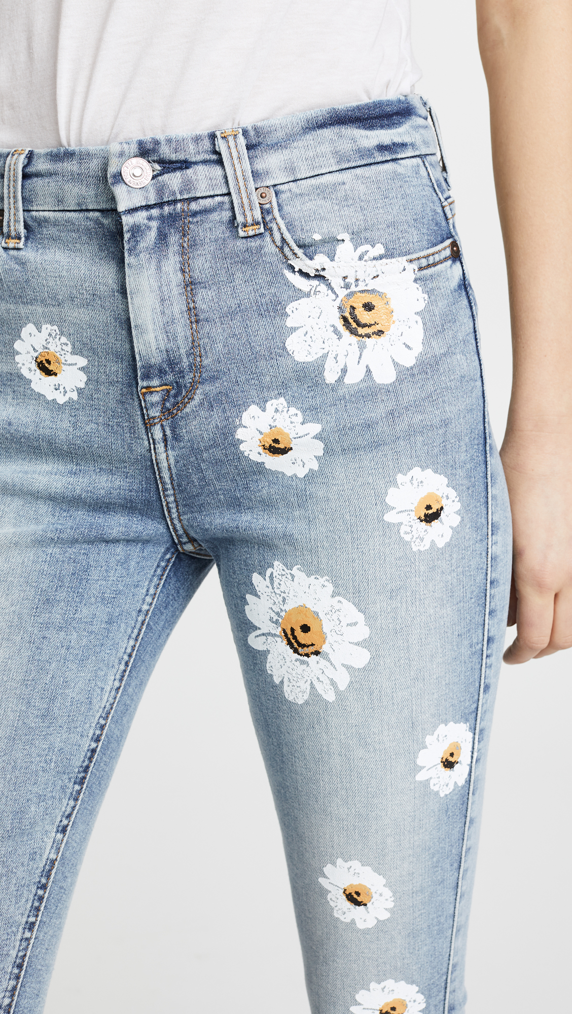34bc0ab364 7 For All Mankind The High Waist Skinny Jeans with Daisies | SHOPBOP