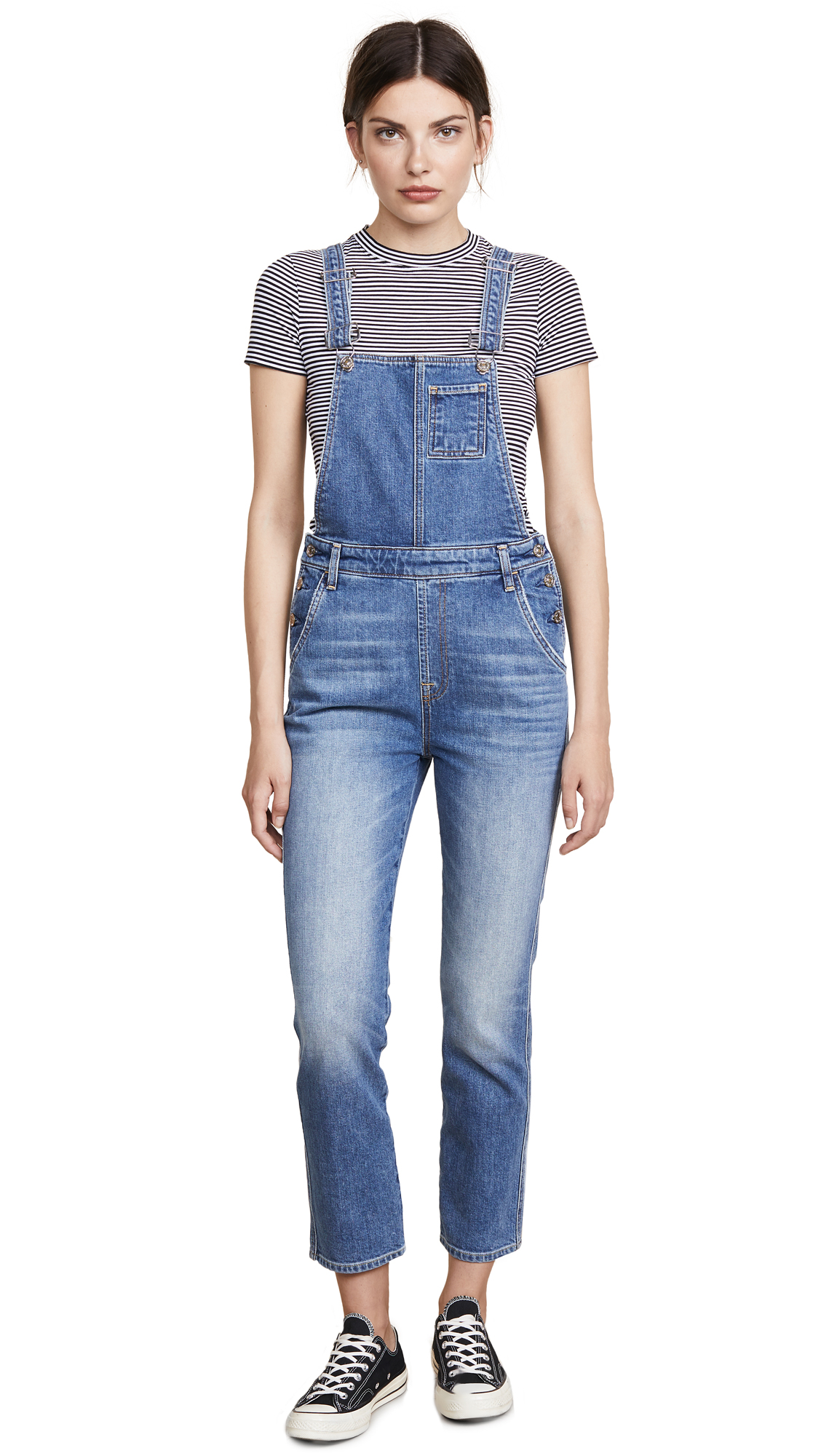 7 For All Mankind Edie Overalls In Mojave Dusk