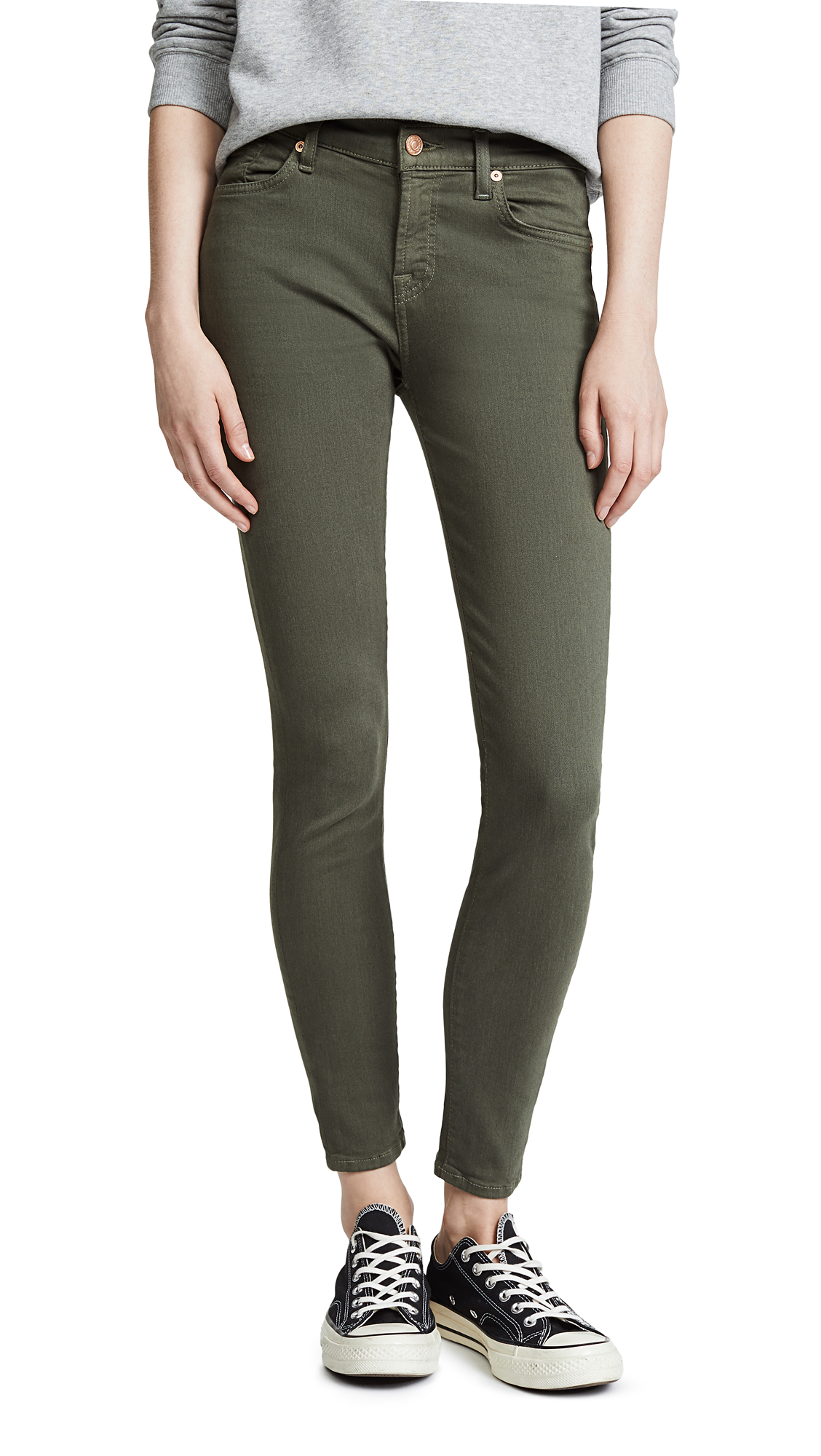 7 For All Mankind The Skinny Jeans In Army