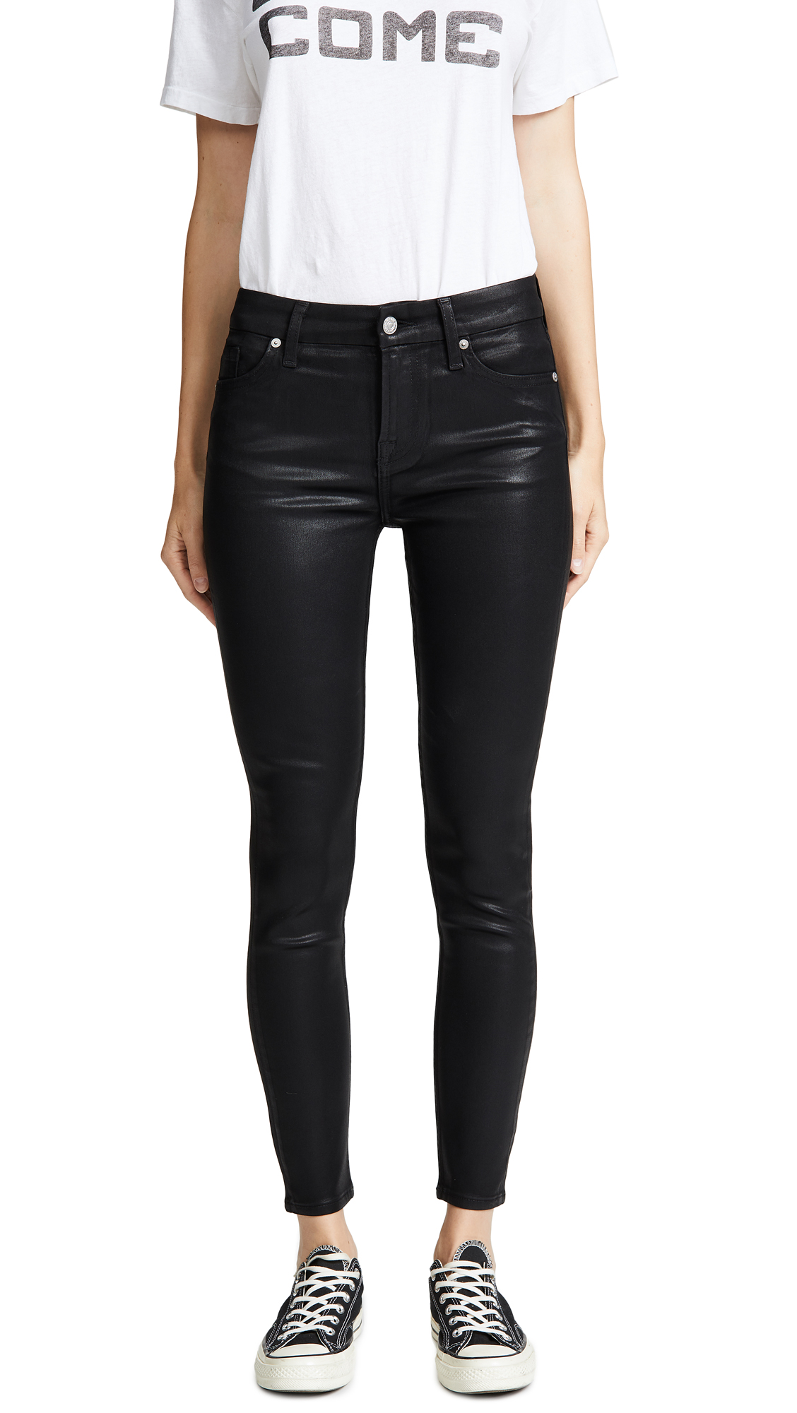 The B(air) Coated Ankle Skinny Jeans