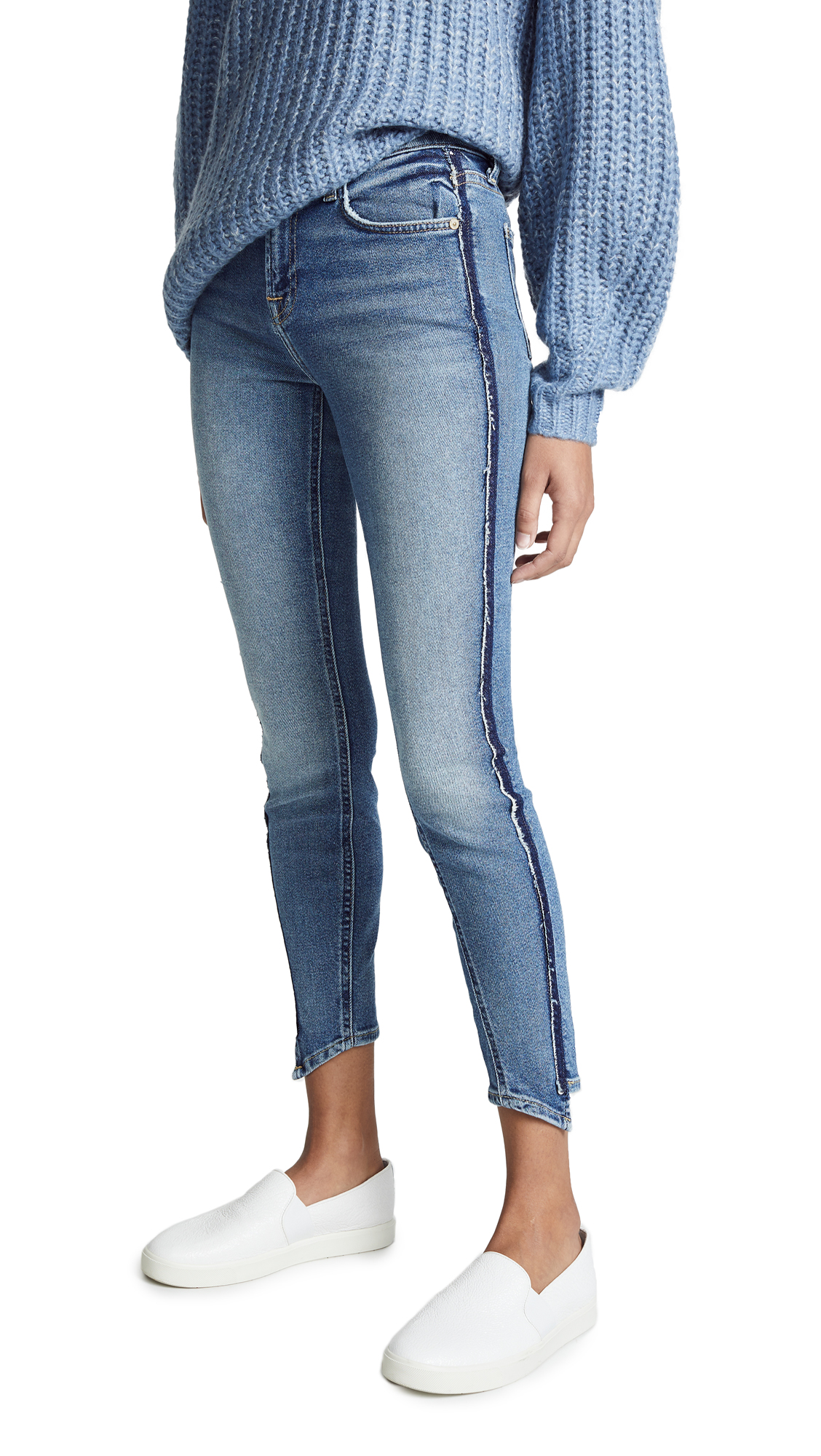 7 For All Mankind Luxe Vintage Ankle Skinny Jeans with Angled Seams - Luxe Vintage Muse
