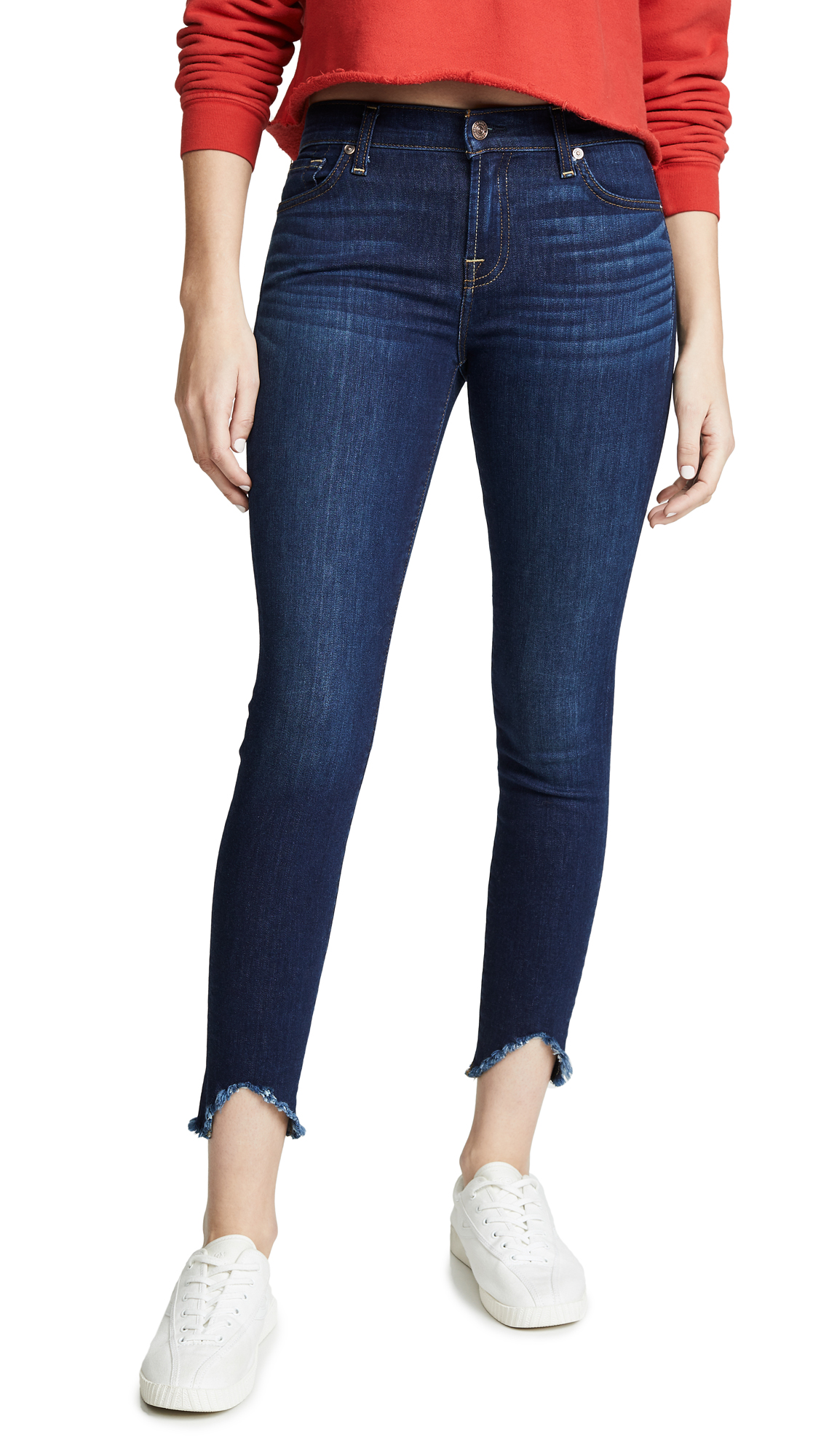 7 For All Mankind The Ankle Skinny Jeans - Serrano Night