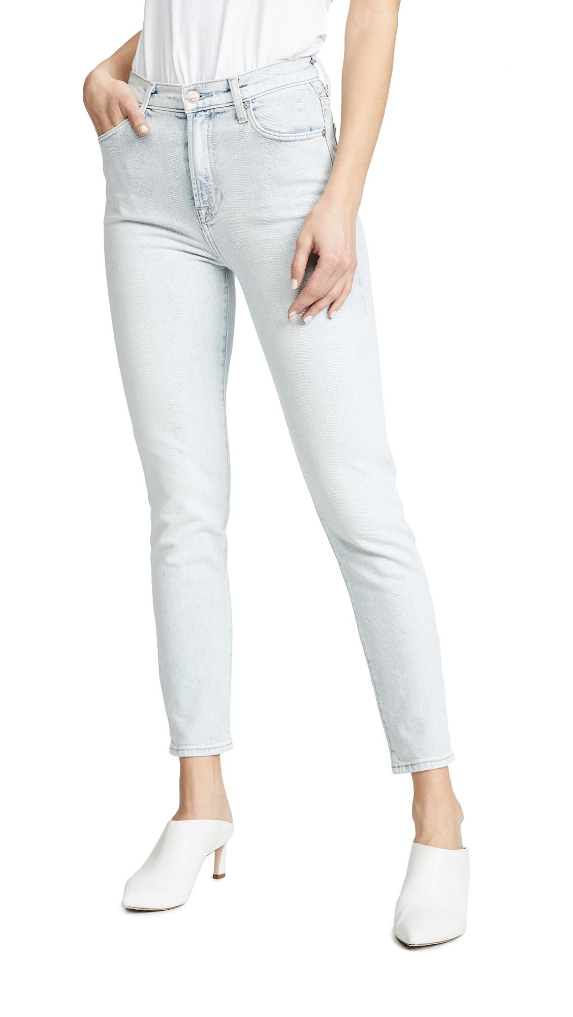 7 For All Mankind High Waist Slim Jeans - Desert Sun Bleached