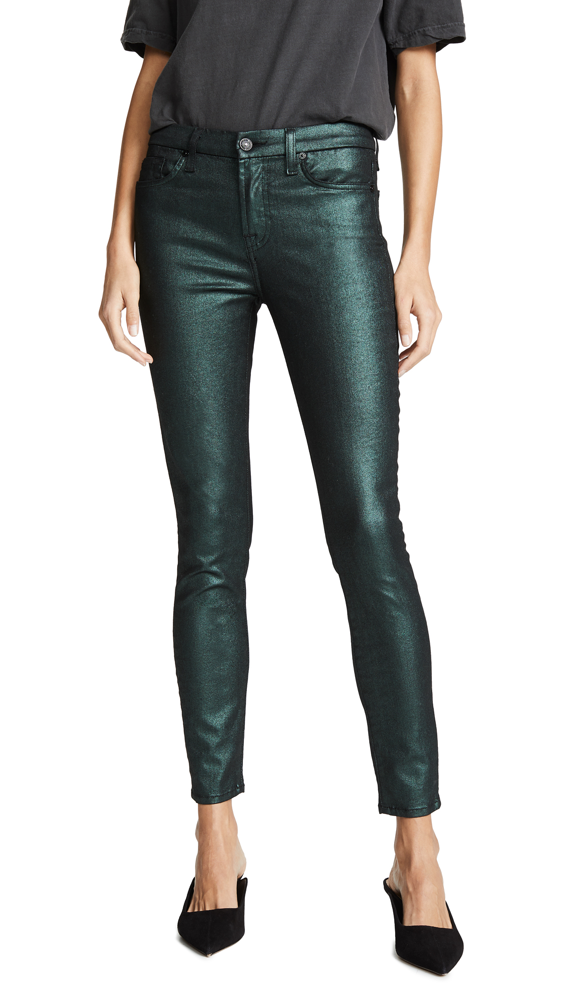 7 For All Mankind Ankle Skinny Jeans - Emerald