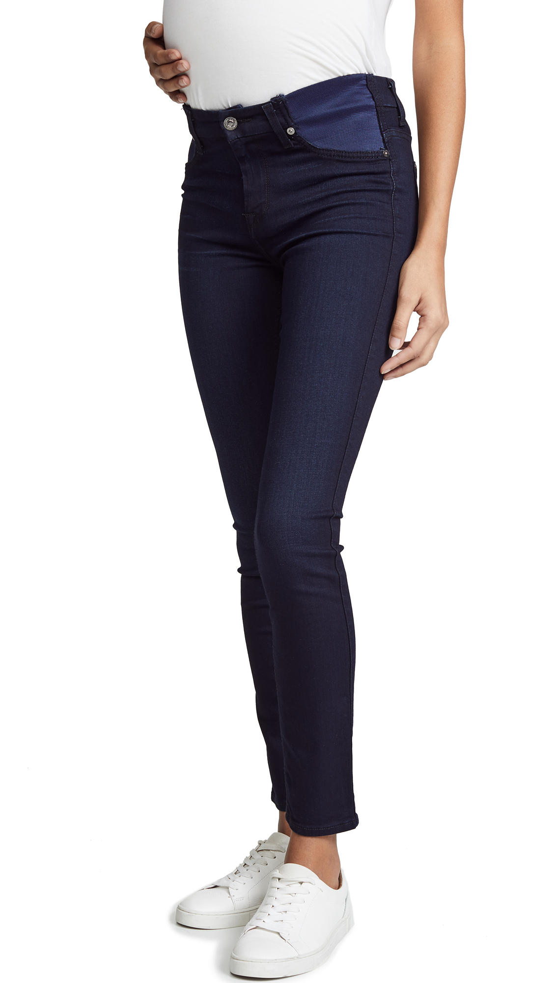 7 For All Mankind High Rise Skinny Maternity Jeans - River Thames
