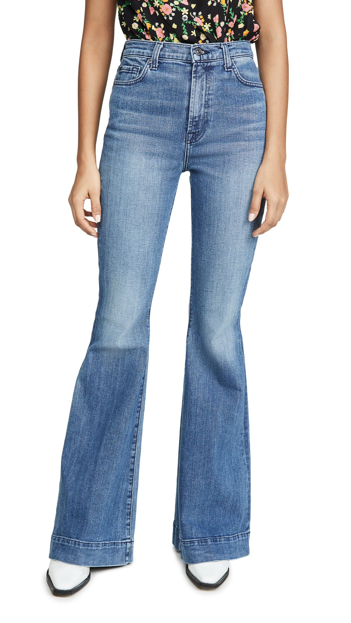 Buy 7 For All Mankind online - photo of 7 For All Mankind Mega Flare Jeans