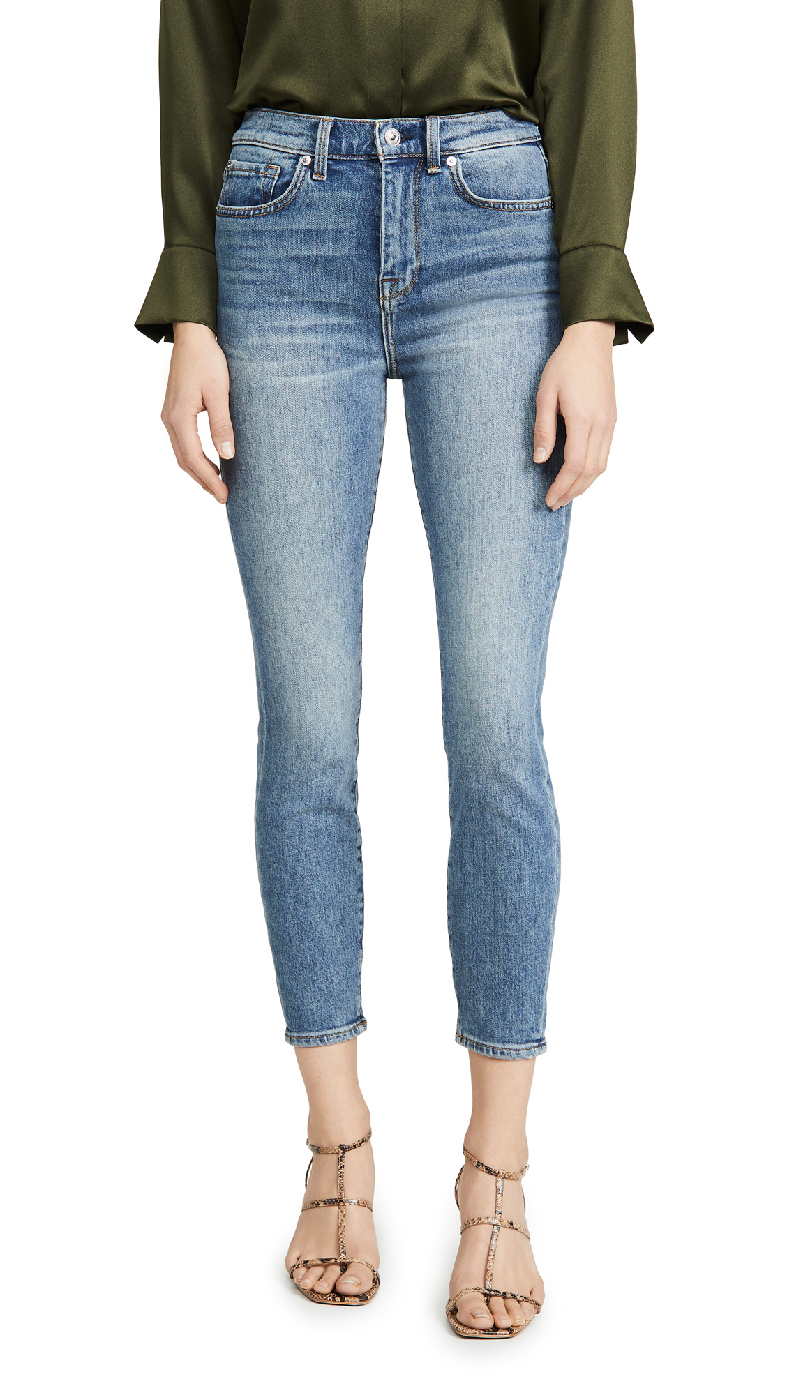 Buy 7 For All Mankind online - photo of 7 For All Mankind High Rise Ankle Skinny Jeans