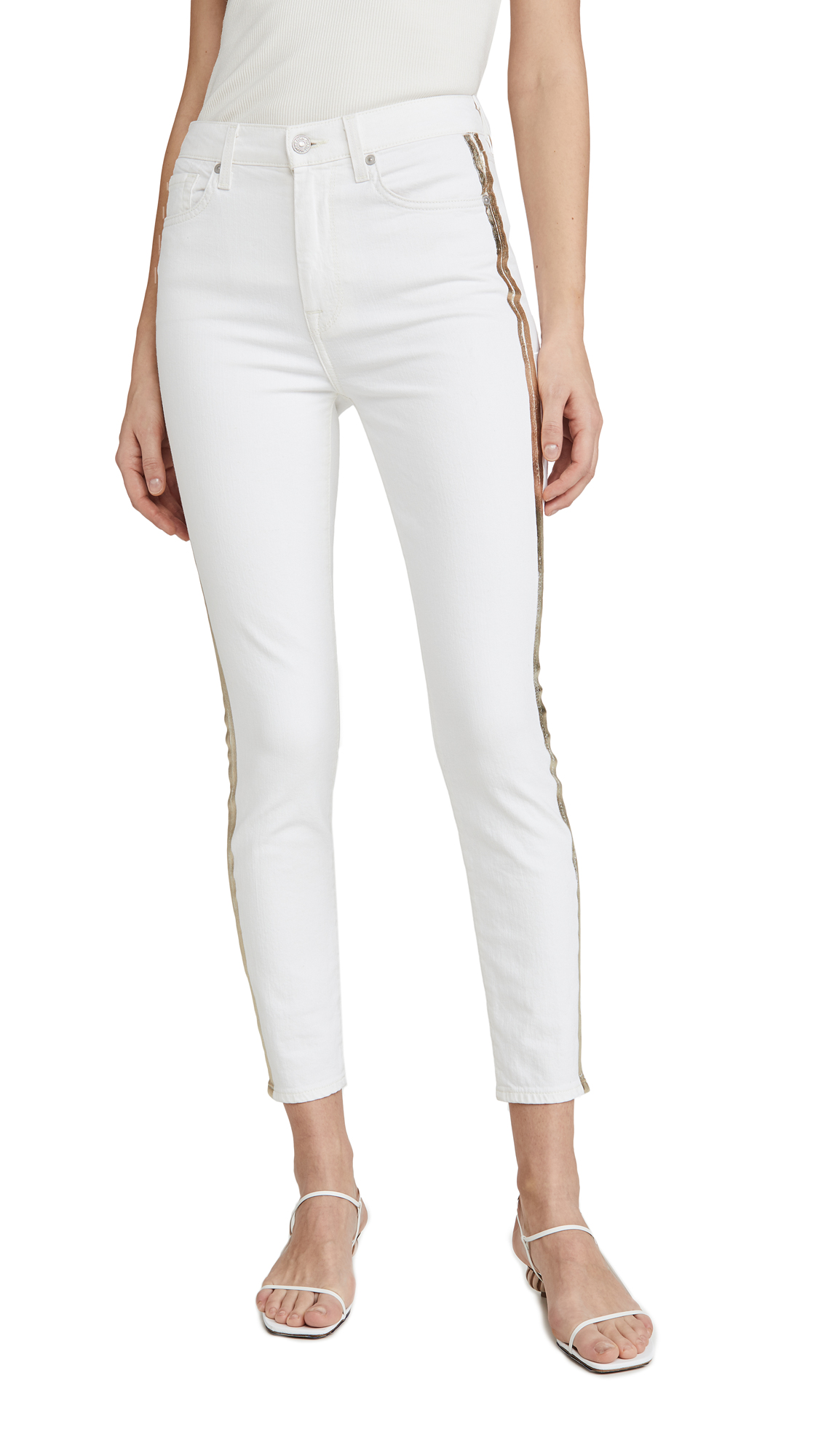 7 For All Mankind Jeans HIGH WAIST ANKLE SKINNY JEANS