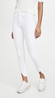 7 For All Mankind Ankle Skinny Jeans With Wave Hem