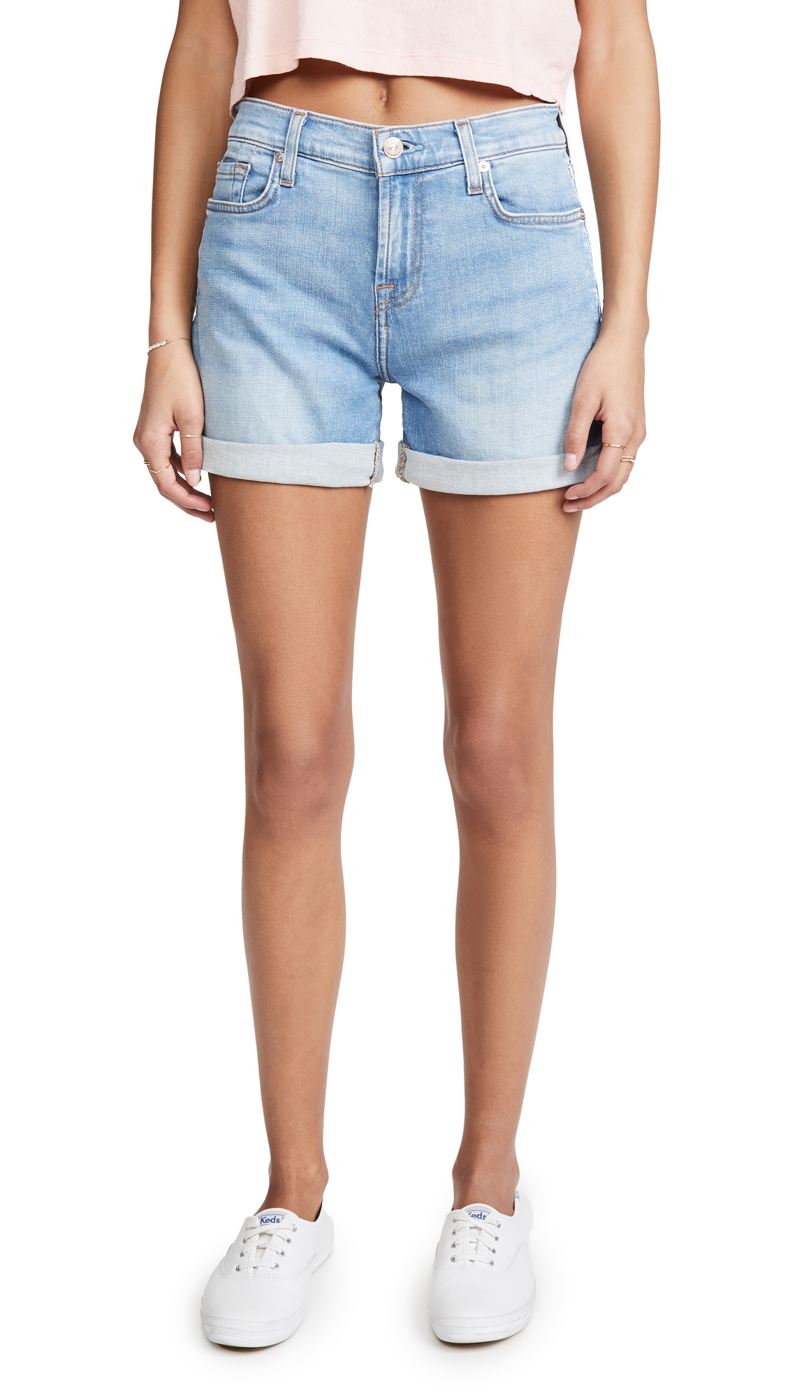 Buy 7 For All Mankind online - photo of 7 For All Mankind Mid Roll Shorts