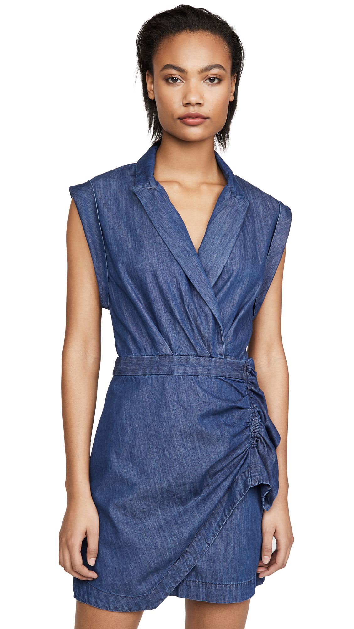 Buy 7 For All Mankind online - photo of 7 For All Mankind Ruffle Blazer Dress