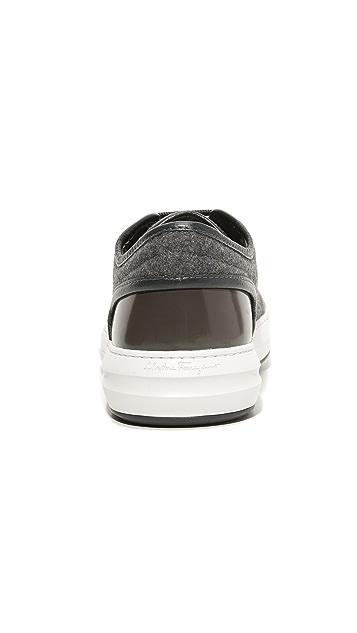 Salvatore Ferragamo Glory Felt Sneakers