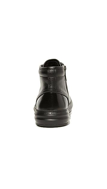Salvatore Ferragamo Ground Leather High Top Sneakers