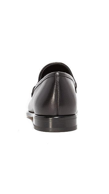 Salvatore Ferragamo Mason Bit Leather Loafers