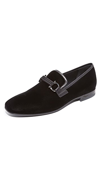 Salvatore Ferragamo Party Velvet Loafers