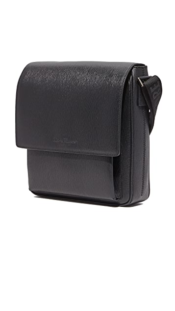 Salvatore Ferragamo Revival Leather Messenger Bag