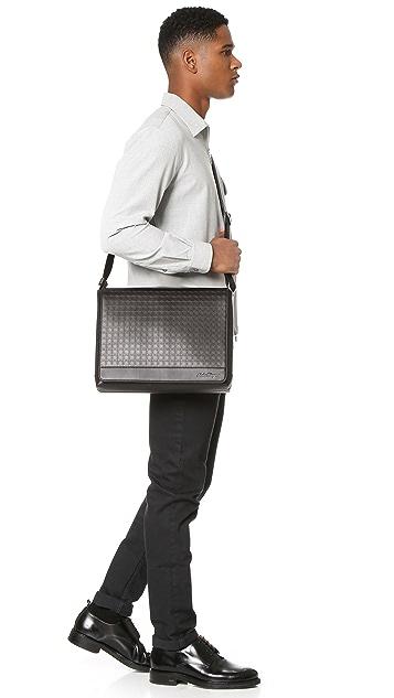 Salvatore Ferragamo Gamma Leather Messenger Bag