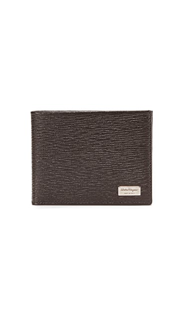 Salvatore Ferragamo Revival Leather Bi Fold Wallet