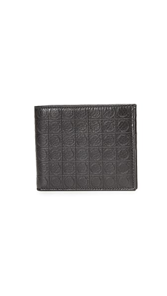 Salvatore Ferragamo Gamma Leather Bi Fold Wallet