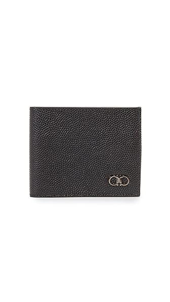 Salvatore Ferragamo 1041 Leather Tri Fold Wallet