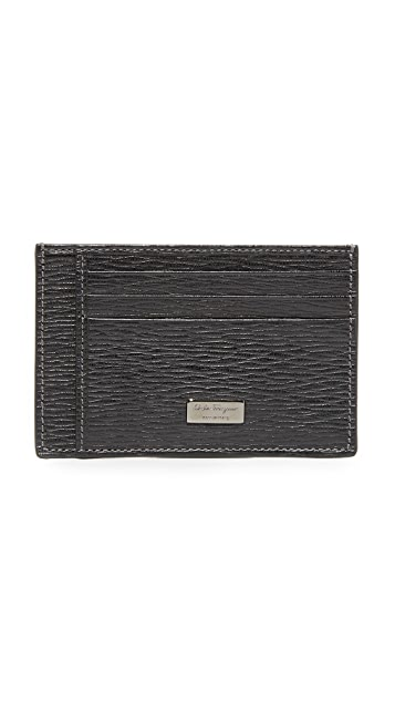 Salvatore Ferragamo Revival Leather Card Case