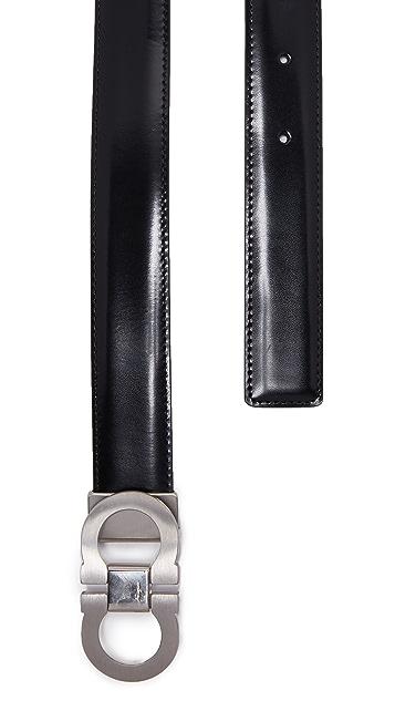 Salvatore Ferragamo Double Gancio Reversible Belt
