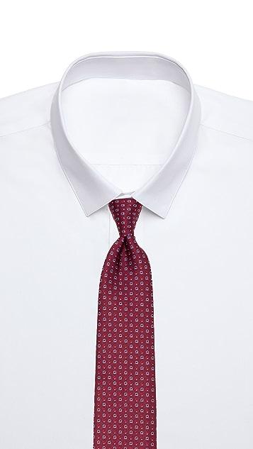Salvatore Ferragamo Gancini Jacquard Tie